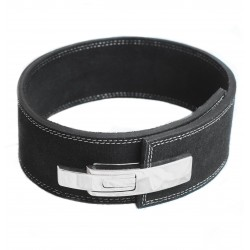 Leaver belt  power belt  With white buckle